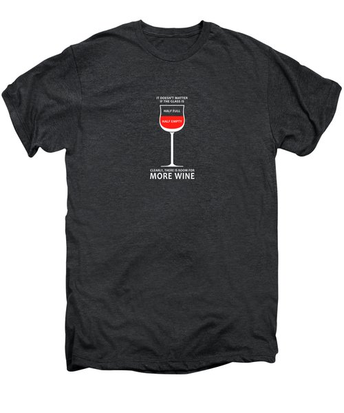 Wine Glasses 1 Men's Premium T-Shirt by Mark Rogan