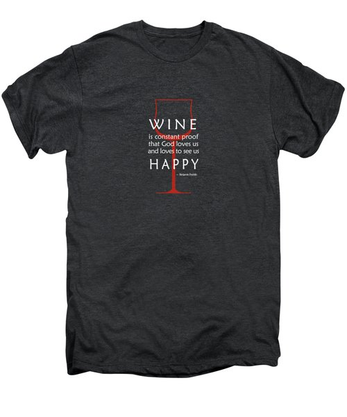 Wine Glasses 2 Men's Premium T-Shirt by Mark Rogan