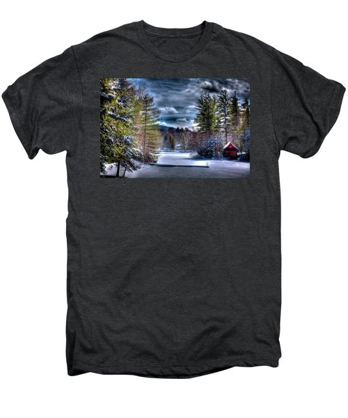 Men's Premium T-Shirt featuring the photograph Winter At The Boathouse by David Patterson