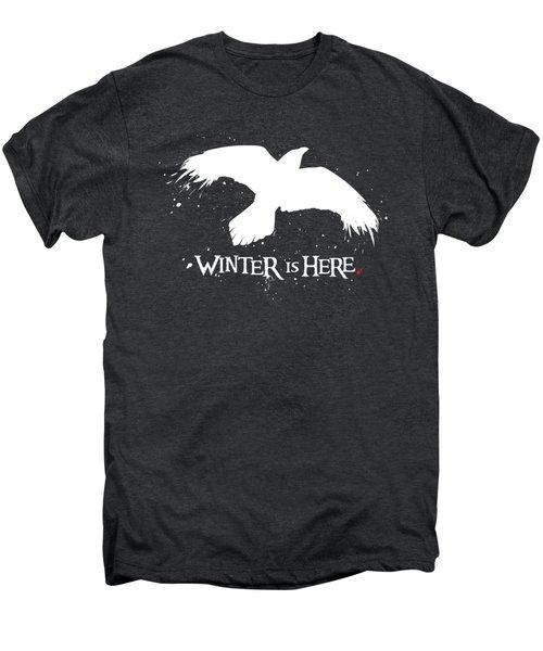 Winter Is Here - Large Raven Men's Premium T-Shirt