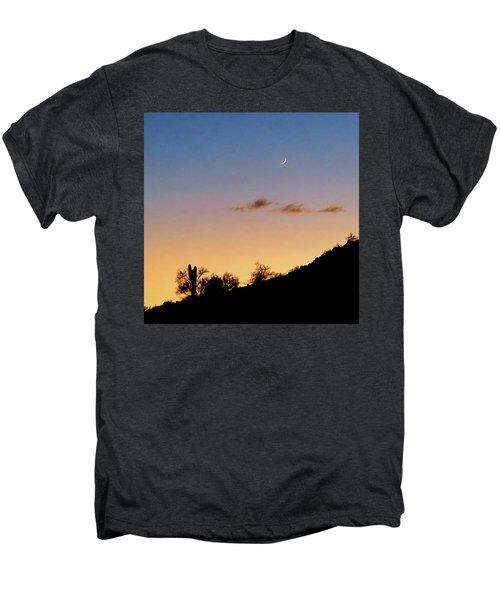 Y Cactus Sunset Moonrise Men's Premium T-Shirt