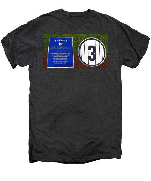 Yankee Legends Number 3 Men's Premium T-Shirt by David Lee Thompson