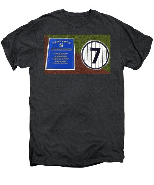 Yankee Legends Number 7 Men's Premium T-Shirt by David Lee Thompson