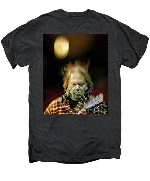 Yellow Moon On The Rise Men's Premium T-Shirt by Mal Bray