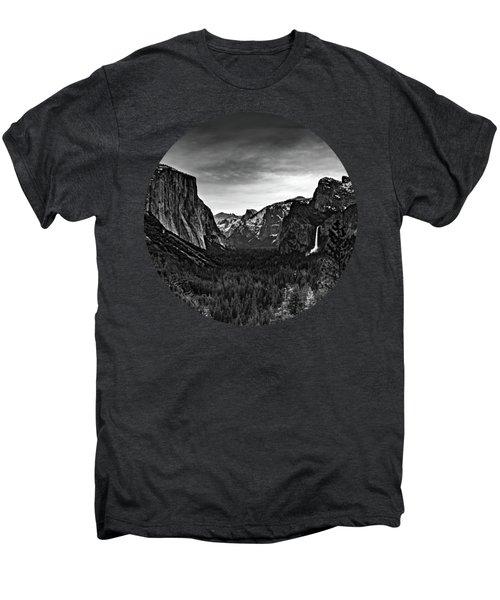 Yosemite Sunrise, Black And White Men's Premium T-Shirt