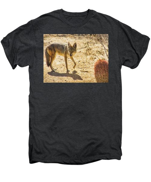 Young Coyote And Cactus Men's Premium T-Shirt