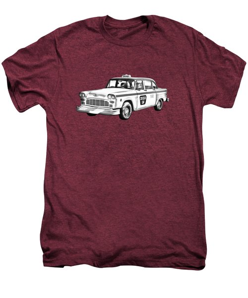 Checkered Taxi Cab Illustrastion Men's Premium T-Shirt by Keith Webber Jr
