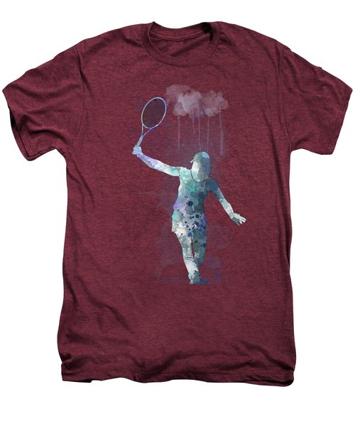 Tennis Player Men's Premium T-Shirt by Marlene Watson