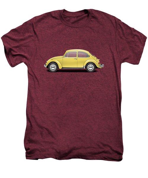 1972 Volkswagen Beetle - Saturn Yellow Men's Premium T-Shirt by Ed Jackson