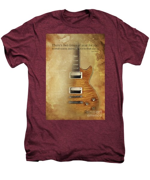 Darius Rucker Inspirational Quote, Electric Guitar Poster For Music Lovers And Musicians Men's Premium T-Shirt by Pablo Franchi