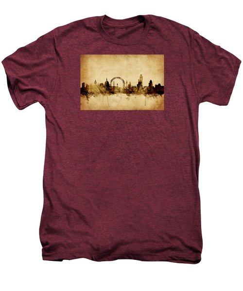 London England Skyline Men's Premium T-Shirt by Michael Tompsett