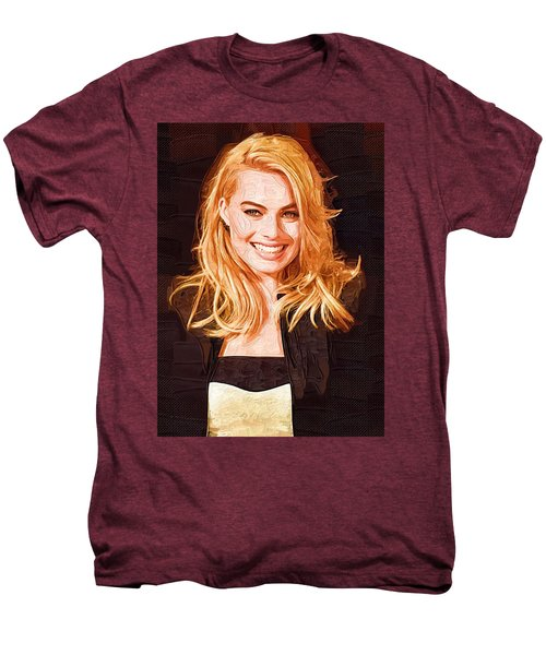 Margot Robbie Painting Men's Premium T-Shirt by Best Actors