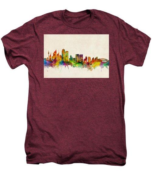 Sydney Australia Skyline Men's Premium T-Shirt by Michael Tompsett