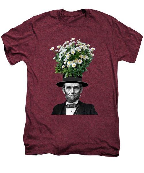 Abraham Lincoln Presidential Daisies Men's Premium T-Shirt by Garaga Designs