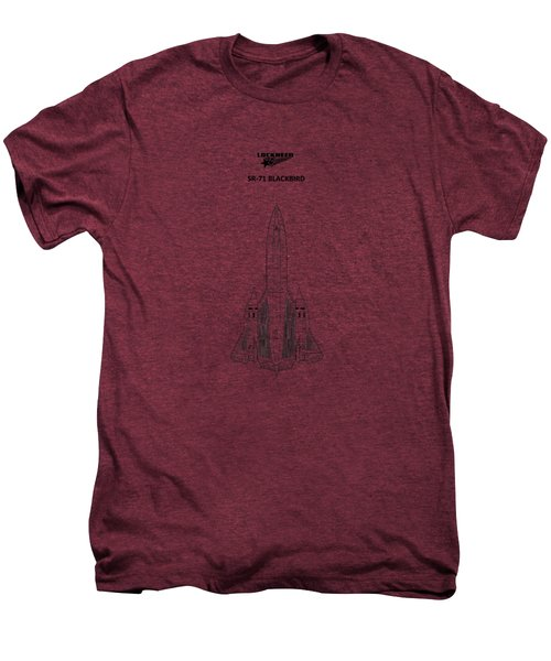 Sr-71 Blackbird Men's Premium T-Shirt by Mark Rogan