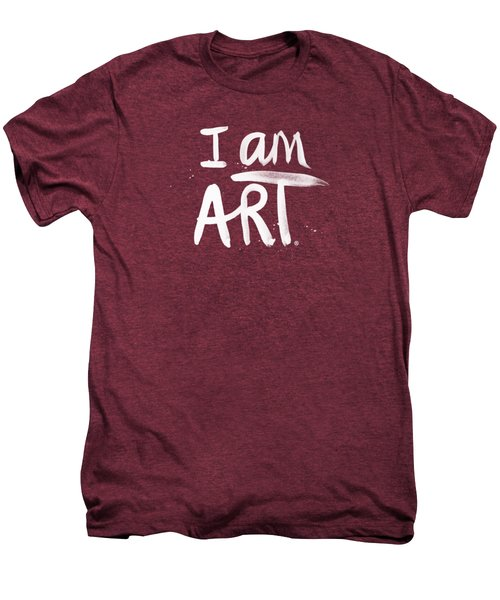 I Am Art- Painted Men's Premium T-Shirt by Linda Woods