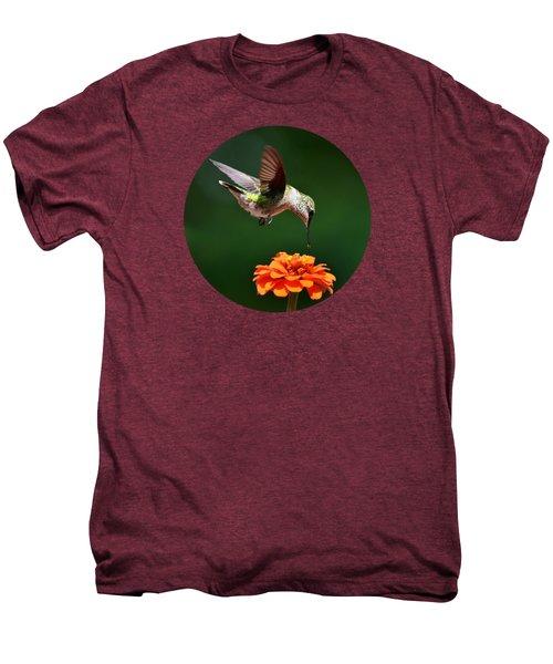 Hummingbird Bullseye Men's Premium T-Shirt by Christina Rollo