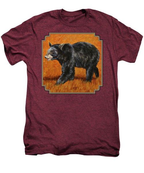 Autumn Black Bear Men's Premium T-Shirt by Crista Forest