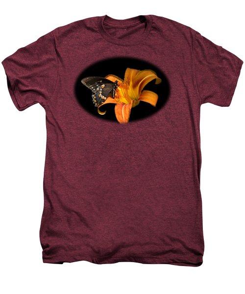 Black Beauty Butterfly Men's Premium T-Shirt by Christina Rollo