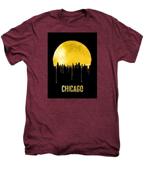 Chicago Skyline Yellow Men's Premium T-Shirt by Naxart Studio