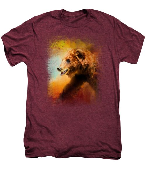 Colorful Expressions Grizzly Bear Men's Premium T-Shirt by Jai Johnson