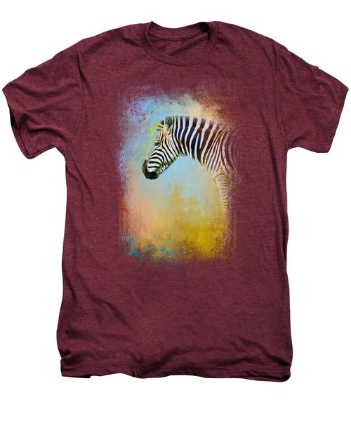 Colorful Expressions Zebra Men's Premium T-Shirt by Jai Johnson