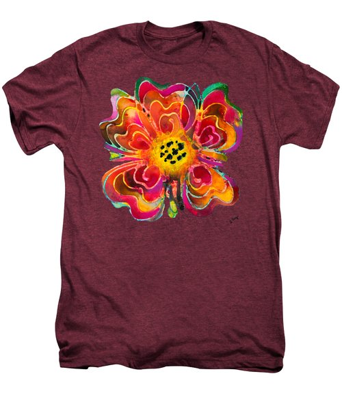 Colorful Flower Art - Summer Love By Sharon Cummings Men's Premium T-Shirt by Sharon Cummings