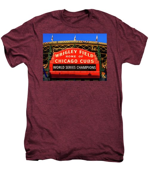 Cubs Win World Series Men's Premium T-Shirt by Andrew Soundarajan
