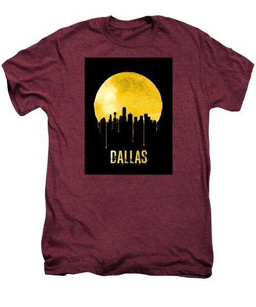 Dallas Skyline Yellow Men's Premium T-Shirt by Naxart Studio