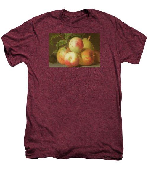 Detail Of Apples On A Shelf Men's Premium T-Shirt by Jakob Bogdany