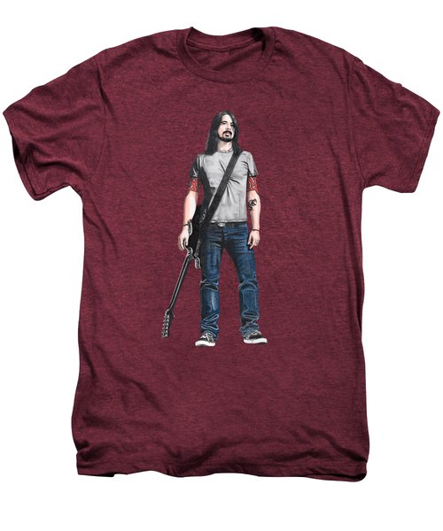 Extraordinary Hero Cutout Men's Premium T-Shirt by Steven Hart
