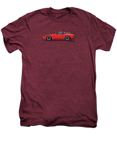 India Red 1986 P 944 951 Turbo Men's Premium T-Shirt by Monkey Crisis On Mars