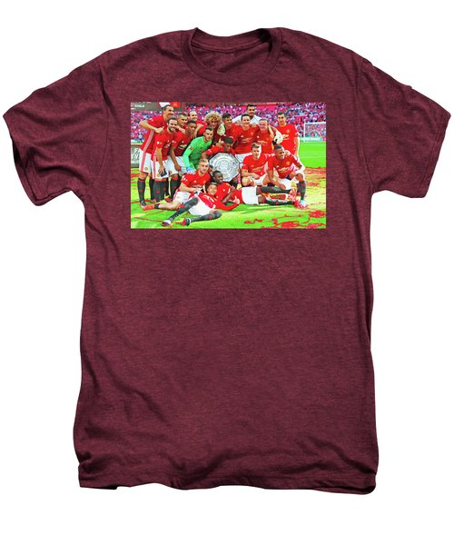 Manchester United Celebrates Men's Premium T-Shirt by Don Kuing