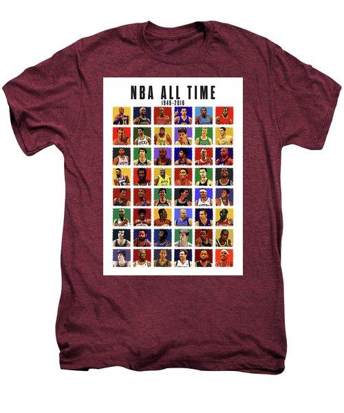 Nba All Times Men's Premium T-Shirt by Semih Yurdabak