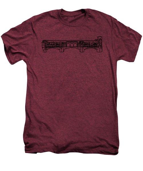 Ponte Vecchio Florence Tee Men's Premium T-Shirt by Edward Fielding