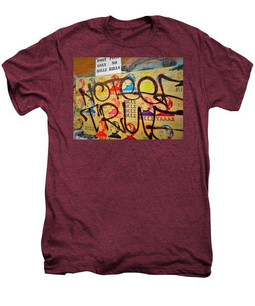 Post No Bills Hillary Clinton  Men's Premium T-Shirt by Funkpix Photo Hunter