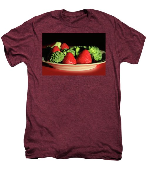 Strawberries And Broccoli Men's Premium T-Shirt by Lori Deiter