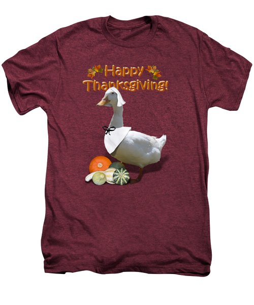 Thanksgiving Pilgrim Duck Men's Premium T-Shirt by Gravityx9  Designs