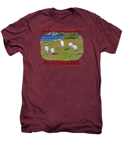 The Woodstork Five Men's Premium T-Shirt by John M Bailey
