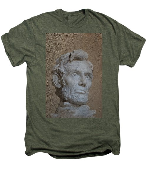 President Lincoln Men's Premium T-Shirt by Skip Willits