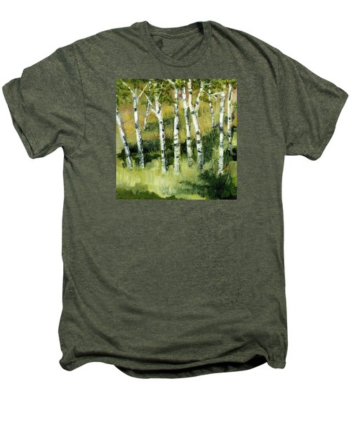 Birches On A Hill Men's Premium T-Shirt by Michelle Calkins