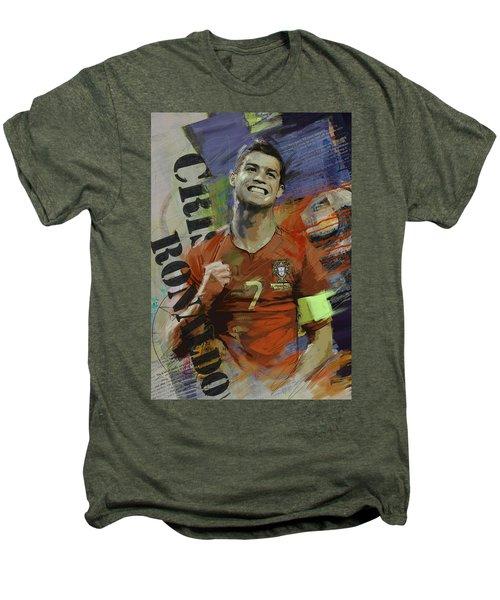 Cristiano Ronaldo - B Men's Premium T-Shirt by Corporate Art Task Force