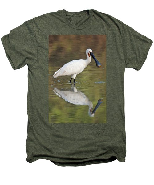 Eurasian Spoonbill Platalea Leucorodia Men's Premium T-Shirt