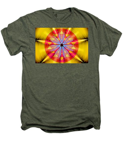 Geo-cosmic Sri Yantra Men's Premium T-Shirt