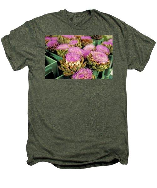 Germany Aachen Munsterplatz Artichoke Flowers Men's Premium T-Shirt by Anonymous