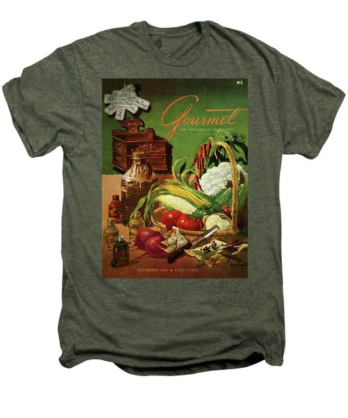 Gourmet Cover Featuring A Variety Of Vegetables Men's Premium T-Shirt
