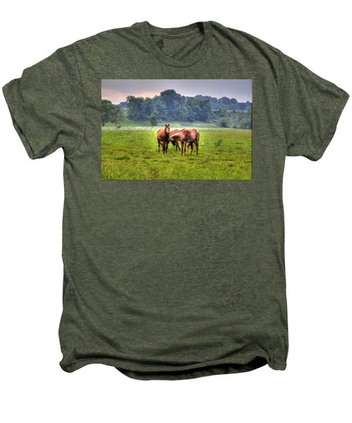 Horses Socialize Men's Premium T-Shirt