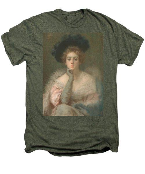 Lady In Pink Men's Premium T-Shirt