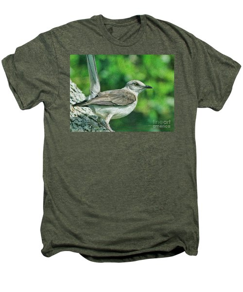 Mockingbird Pose Men's Premium T-Shirt by Deborah Benoit