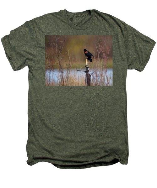 Red Winged Blackbird 2 Men's Premium T-Shirt